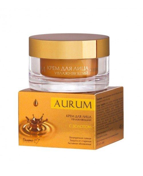 Aurum_ КРЕМ для лица увлажняющий с золотом, 45 г