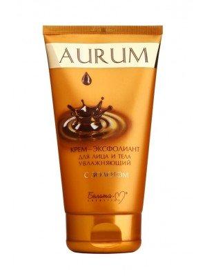 Aurum_ КРЕМ-ЕКСФОЛІАНТ для обличчя і тіла зволожуючий з золотом, 145 г