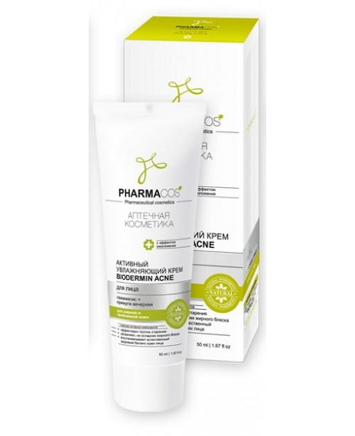 "PHARMACos Активный увлажняющий крем для лица ""Biodermin Acne"", 50мл"