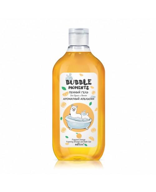 Bubble moments_ ГЕЛЬ пінний гель душу і ванни Ароматний апельсин, 300 мл