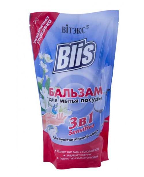 ДОЙ-ПАК_BLIS_БАЛЬЗАМ для миття посуду 3в1 Sensitive для чутливої шкіри, 470 мл