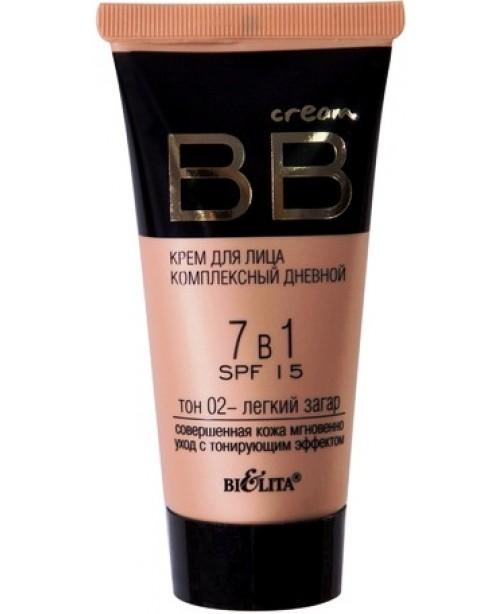 BB cream_для обличчя комплексний денний 7 в 1  SPF 15 тон 02, 30 мл