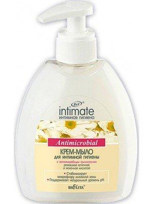 Крем-мыло  для интимной гигиены с антимикробным триклозаном,300 мл
