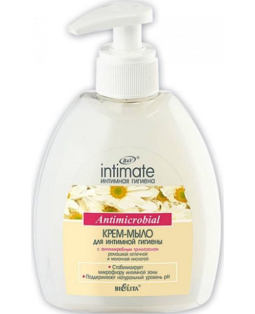 Інтимна_КРЕМ-МИЛО для інтимної гігієни з антимікробним триклозаном, 300 мл