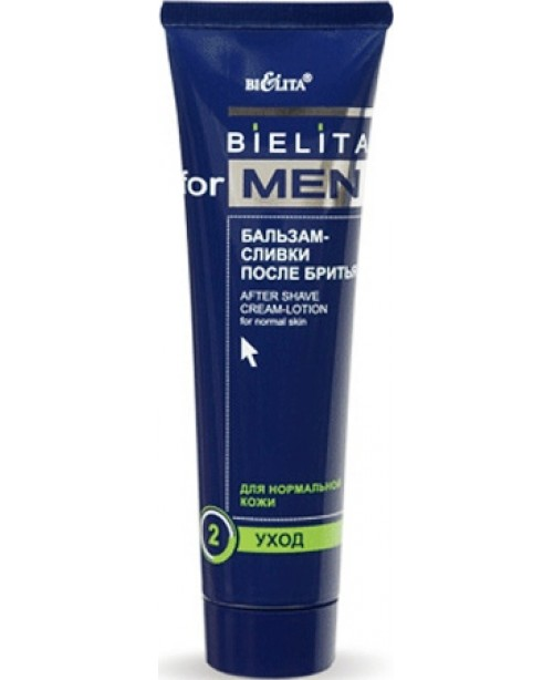 Bielita for men Бальзам-сливки после бритья для нормальной кожи, 100 мл
