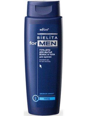 Bielita for men_ГЕЛЬ-ДУШ для миття волосся і тіла для чоловіків, 400 мл