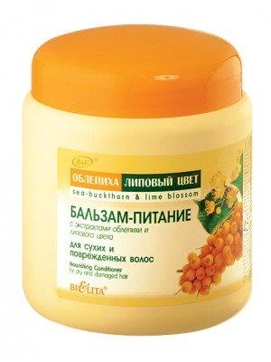 Облепиха-липовый цвет Бальзам-питание для сухих и поврежденных волос, 450 мл