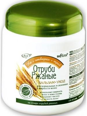 На отварах трав Бальзам-уход ОТРУБИ РЖАНЫЕ для нормальных  и склонных к жирности волос,450 мл