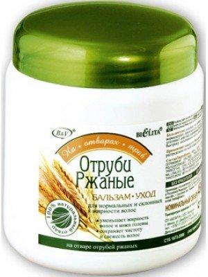 На відварах трав_БАЛЬЗАМ-догляд Висівки житні для нормального і схильного до жирності волосся, 450 м