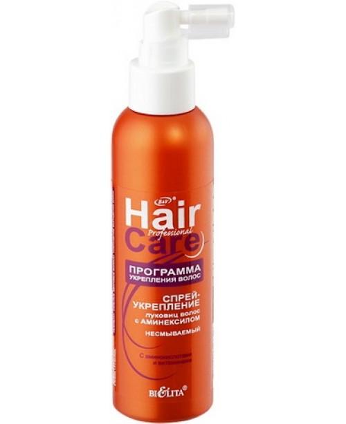 Hair care Програма зміцнення волосся_СПРЕЙ-ЗМІЦНЕННЯ цибулин волосся з амінексилом незмивний, 150 мл