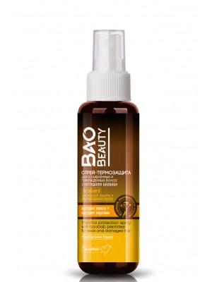 BaoBeauty_ СПРЕЙ-ТЕРМОЗАХИСТ для ослабленого і пошкодженого волосся з пептидами баобаба, 190 мл