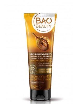 BaoBeauty_ КРЕМ незмивний для глибокого зволоження з ефектом легкої фіксації для всіх типів волосся з пептидами та олією баобаба, 100 г