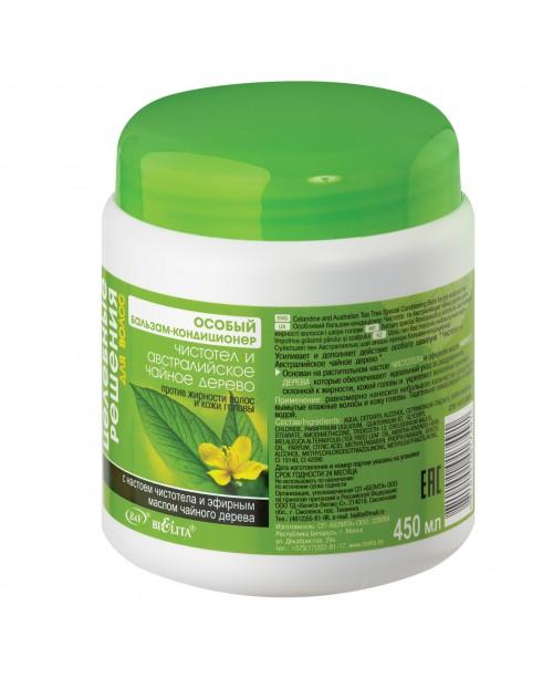 Цілющі рішення для волосся_БАЛЬЗАМ-КОНДИЦІОНЕР Чистотіл і австралійське чайне дерево проти жирності,
