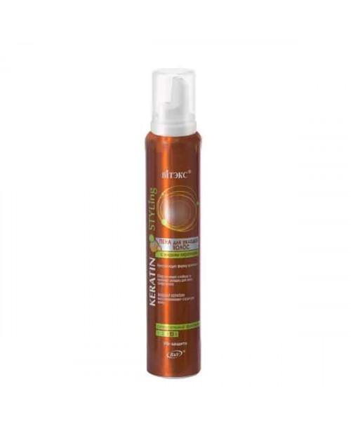 KERATIN STYLING ПЕНА для укладки волос с жидким кератином супер сильной фиксации (аэрозоль), 300 мл