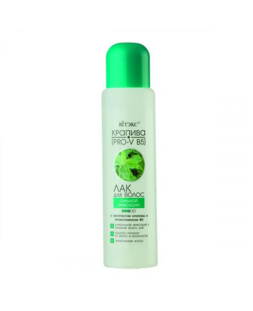 Для гипермаркетов ЛАК для волос Сильной фиксации с экстрактом крапивы и провитамином В5, 500мл