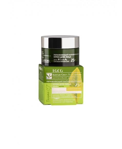 EGCG Korean GREEN TEA CATECHIN_ КРЕМ зволожуючий вирівнюючий для обличчя день/ніч для всіх типів шкі