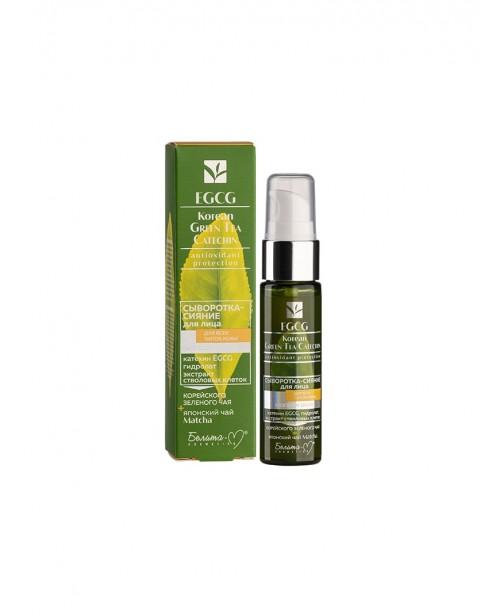 EGCG Korean GREEN TEA CATECHIN_ СИРОВАТКА-СЯЙВО для обличчя для всіх типів шкіри, 30 г