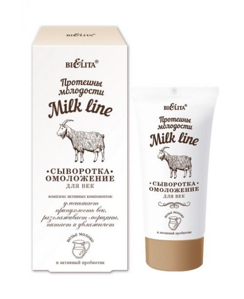 Milk line (Протеїни молодості)_СИРОВАТКА-омолодження для повік, 30 мл