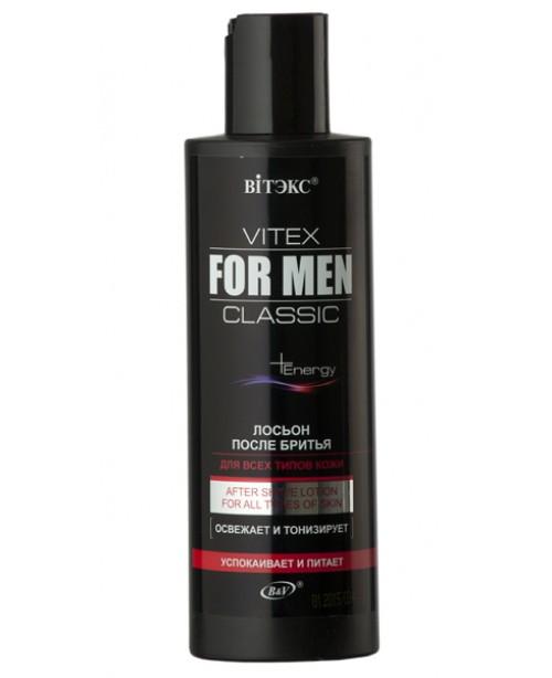 VITEX FOR MEN CLASSIC_ЛОСЬЙОН після гоління для всіх типів шкіри, 200 мл
