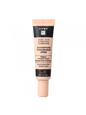 КРЕМ Тональний зволожуючий Nude skin hydrating foundation_ тон 32 Light beige, 30 мл