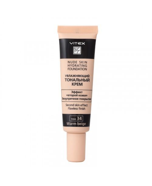 КРЕМ Тональний зволожуючий Nude skin hydrating foundation_ тон 34 Warm beige, 30 мл
