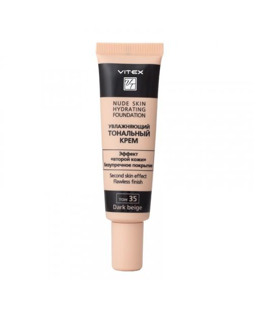 КРЕМ Тональний зволожуючий Nude skin hydrating foundation_ тон 35 Dark beige, 30 мл
