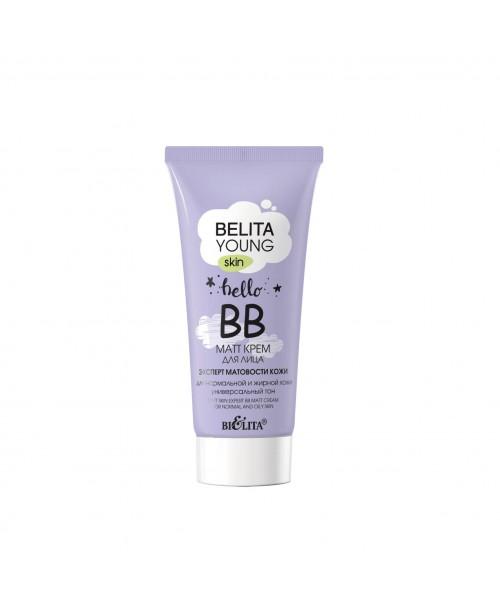 BELITA YOUNG SKIN_ ВВ-matt КРЕМ для лица Эксперт матовости кожи для нормальной и жирной кожи, 30 мл