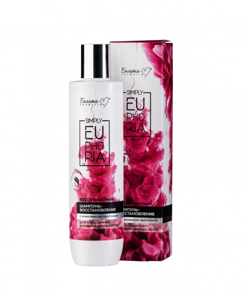 Simply Euphoria_ ШАМПУНЬ-відновлення безсульфатний для фарбованого і пошкодженого волосся, 125 г