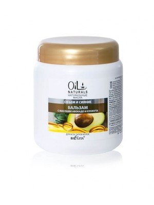 OIL NATURALS_БАЛЬЗАМ з маслом АВОКАДО і КУНЖУТУ для всіх типів волосся Об'єм і Сяйво, 450 мл