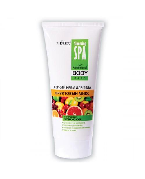 Prof BODY CARE Легкий крем для тела фруктовый микс с экстрактом зеленого кофе, 200 мл