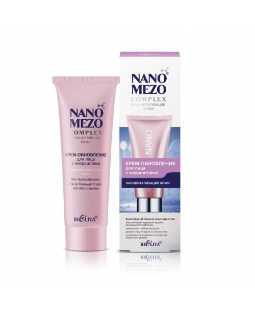 NANOMEZOCOMPLEX_ КРЕМ-оновлення для обличчя з мікроголками Нановіталізація шкіри, 50 мл