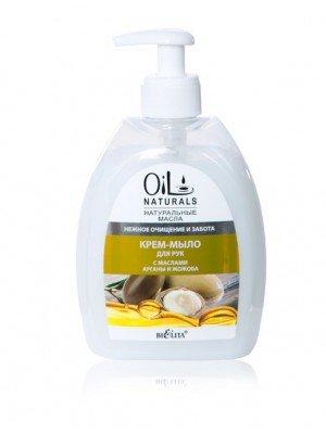 OIL NATURALS_КРЕМ-МИЛО для рук з маслом АРГАНИ і ЖОЖОБА Ніжне очищення і турбота, 400 мл
