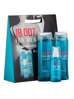 Подарочный набор Белита-М_ JB 007 FOR MEN (ГЕЛЬ для душа тонизирующий, ГЕЛЬ после бритья, ШАМПУНЬ для ежедневного применения)