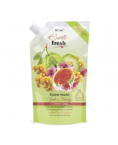 Exotic Fresh Крем-мило_ Гуава і Гібіскус, дой-пак, 750 мл