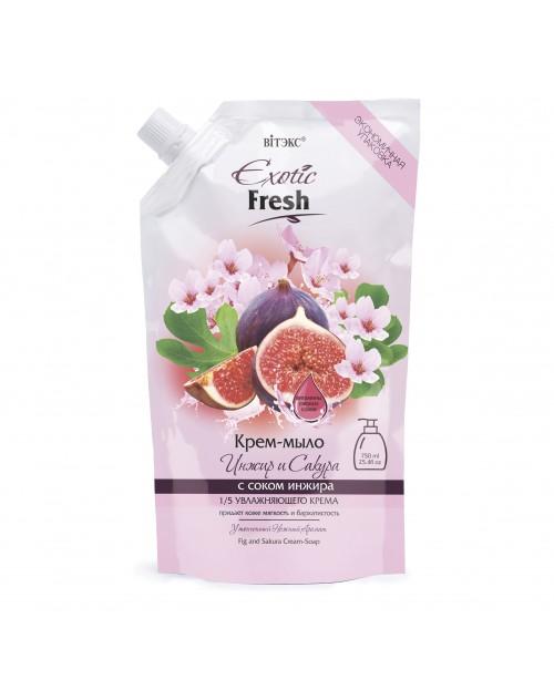 Exotic Fresh Крем-мыло_ Инжир и Сакура, дой-пак, 750 мл