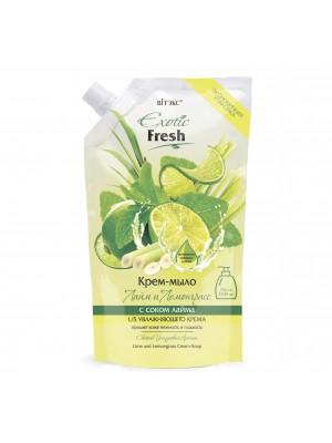 Exotic Fresh Крем-мыло_ Лайм и Лемонграсс, дой-пак, 750 мл