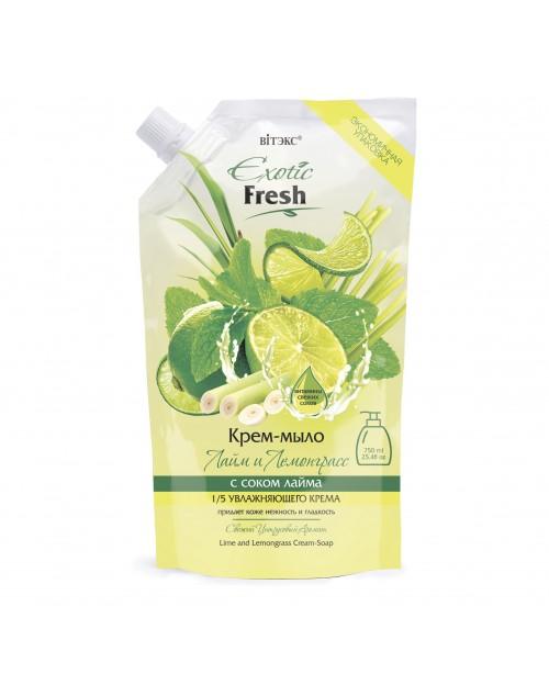 Exotic Fresh Крем-мило_ Лайм і Лемонграсс, дой-пак, 750 мл