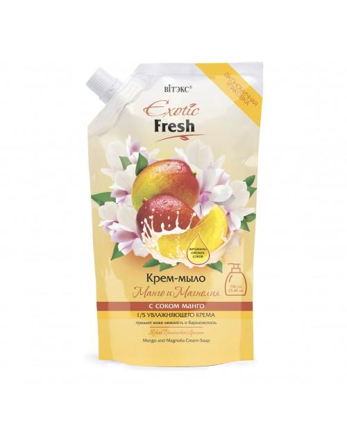 Exotic Fresh Крем-мило_ Манго і Магнолія, дой-пак, 750 мл