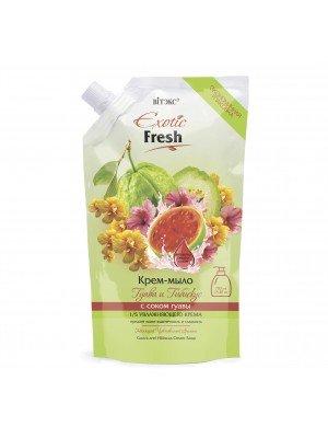 Exotic Fresh Крем-мыло_Гуава и Гибискус, дой-пак, 750 мл