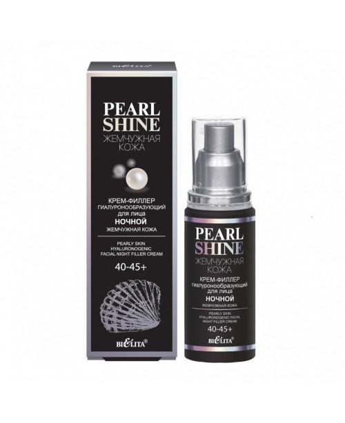 Pearl shine_ КРЕМ-ФІЛЛЕР гіалуроноутворюючий для обличчя нічний Перлинна шкіра, 40-45+, 50 мл