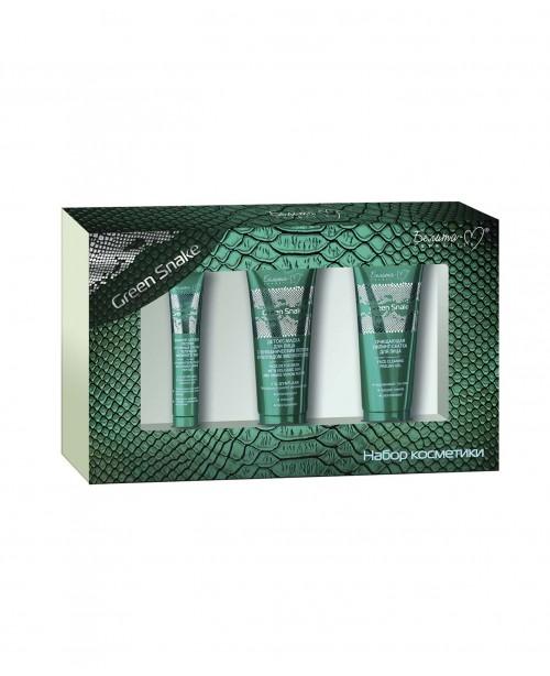 Подарунковий набір Беліта-М_ Green Snake (ПІЛІНГ-СКАТКА для обличчя, ФІЛЛЕР для повік, ДЕТОКС-МАСКА)